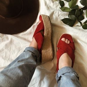 Oak Espadrille Wedge Sandals